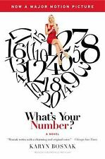 What's Your Number by Karyn Bosnak (2011, Paperback, Movie Tie-In)