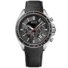 Hugo Boss 1513087 Nylon Men's  Black Driver Sport Chronograph Watch