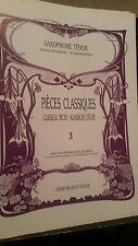 Classical Pieces for Alto Sax, vol 3 (Billaudot)