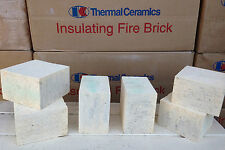 "K-20 Insulating Firebrick IFB 4.5"" x 4.5"" x 2.5"" Thermal Ceramics Fire Brick K20"