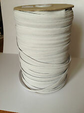 12 Cord White Flat Elastic - 2 metre Lengths (width 10mm)