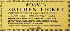 A4 Willy Wonka Golden Ticket WAFER PAPER Edible Birthday Cake Topper