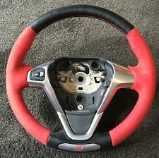 Ford Fiesta ST180 Retrimmed Steering Wheel (Red Stitching and Alcantara)