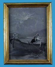 Hermann Kaulbach (1846-1909) 'Liebesglück' signiertes Grisaille-Gemälde auf Holz