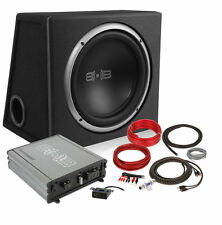 """Belva BPKG110v2 500W Complete Bass Package w/ 10"""" Sub in Ported Box w/ Amp & Kit"""