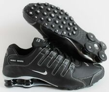 NIKE MEN SHOX NZ BLACK-METALLIC SILVER-ANTHRACITE SZ 10 [378341-090]