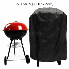 77x58cm Waterproof Round Barbecue BBQ Cover Grill Outdoor Dust Rain Protector