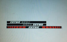 Zetor 3320 tractor stickers / decals