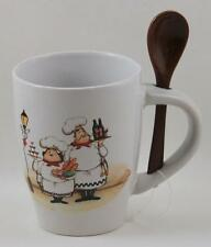 Chef Coffee Cup Brown Spoon Trisa BRAND NEW