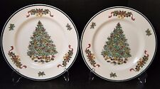 Johnson Brothers Victorian Christmas England Dinner Plates 10 1/4 1992 TWO MINT!