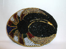 Beautiful Hand Beaded Belt Buckle-Black/Red/White/Green/Gold-Charmant Belts,Inc.