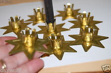 Candle Holder Gold-toned Fairy Star Chime Candle,Altar Item Wicca, Goddess Witch