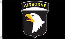 US 101st AIRBORNE DIVISION FLAG 5' x 3' Black USA Army Air Force TO CLEAR ***