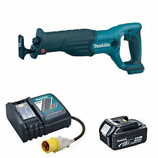 MAKITA 18V DJR182 DJR182Z RECIPROCATING SAW BL1840 BATTERY & DC18RC 110v CHARGER