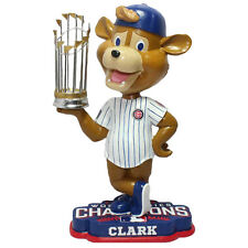 CLARK CHICAGO CUBS MASCOT BEAR 2016 WORLD SERIES CHAMPIONS BOBBLEHEAD