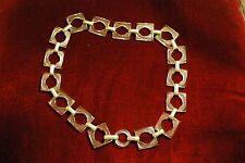 RARE  Vintage Clear Lucite Chain Square Link Necklace Vintage Plastic Fashion