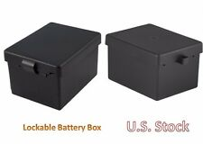 Battery Lockable Plastic Box Case Protects Study Bracket Screw Kit Car Marine RV