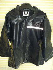 Boys Lightweight Waterproof Jacket with Detachable Hood Black Age 2-3 BNIP