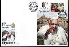 MOZAMBIQUE 2016 80th BIRTH ANNIVERSARY OF POPE FRANCIS SOUVENIR SHEET FDC