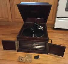 Antique Working Victor Victrola Phonograph Wind-Up Table Top Talking Machine