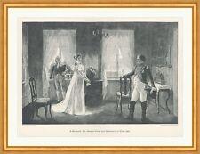 Königin Luise und Napoleon I., Tilsit Eichstädt Frankreich Adel Holzstich C 1466