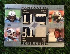 2009 UD SPX Fantastic Foursome QUAD JERSEY YOUNG/JOHNSON/BRITT/WHITE /10 TITANS