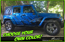 2007 08 09 10 11 12 13 14 15 16 17 Jeep Wrangler Vinyl Decal Graphic Splash