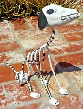 DAY OF THE DEAD PAPER MACHE & WIRE DOG HAND MADE IN MEXICO  FREE SHIPPING
