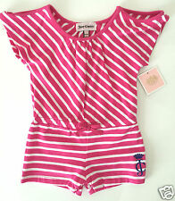 Baby Girl Juicy Couture Romper Pink Striped Jumper Sz 12-18 Months Pink NWT