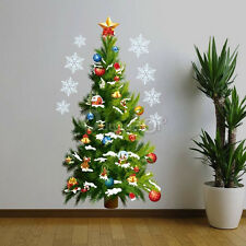 Wall Stickers Adesivi Christmas Albero Removable Per Natale Window Decor Partito