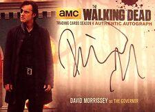 THE WALKING DEAD SEASON 4 PART 1 SILVER AUTOGRAPH  DAVID MORRISSEY DM2