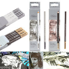 12pcs Artist Pastel White Pencils Crayon Drawing Charcoal Sketch Pastel Chalk