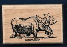 MOOSE BUCK River YUKON Wildlife Wilderness Animal Stampin' Up! 2002 RUBBER STAMP