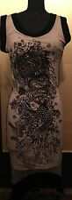 Jean Paul Gaultier EMBROIDERED VELVET on SILK Dress Dragon Koi Fish Sz S SALE!