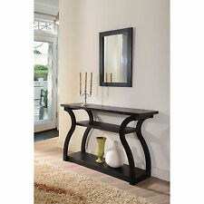 Furniture of America 'Sara' Black Finish Console Table Accent Decor Home Entry