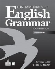 FUNDAMENTALS OF ENGLISH GRAMMAR + COMPACT DISC WITH ANSWE - NEW PAPERBACK BOOK