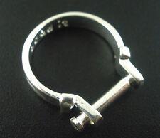 Wechselring versilbert Ringe für Perlen 18mm 1 Stück