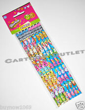 SHOPKINS PENCILS EASTER GIFT GIRLS STATIONARY PARTY FAVORS 8 PENCILS F CANDY BAG