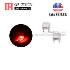 100pcs Flat Top Piranha Super Flux Red Light LED Diodes Ultra Bright Bulb USA