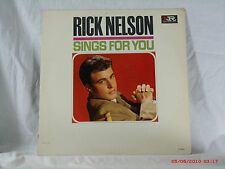 "RICK NELSON -(LP)- SINGS FOR YOU - ""THERE GOES MY BABY"" -IMPERIAL - 9251  - 1963"
