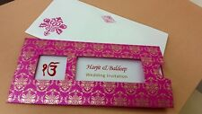 Muslim Indian Hindu Sikh and Asian Wedding Cards Invitations | 100 PACK