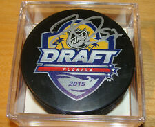 Connor McDavid Hockey Puck COA Signed Autograph 2015 NHL Entry Level Draft Cube