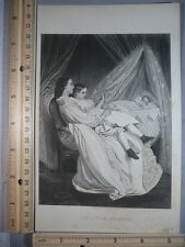 Rare Antique Original VTG 1881 The Little Brother Engraving Art Print