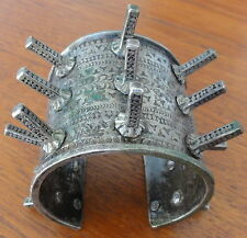 Ancien Bracelet Ethnique OULED NAÏL Argent Massif. Vintage Ethnic Silver Bangle.