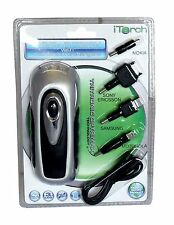 Emergency Dynamo Wind Up Mobile Phone Charger & Torch Camping Festival iTorch