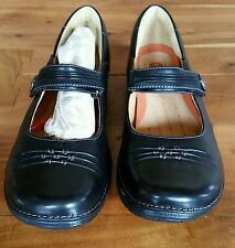 CLARKS UNSTRUCTURED UN.LINDA Mary Jane Black Leather Size 10 M NWOT