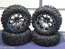 "26"" HONDA RUBICON BIGHORN RADIAL RWL ATV TIRE & 14"" WHEEL KIT SS3 COMPLETE"