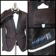 Mens SARTORE Guabello Wool Flat Front 1Btn Shawl Tuxedo Tux Suit 52 7R 42 R NWT!