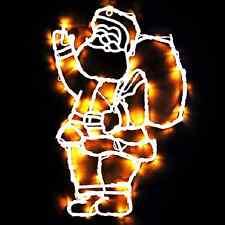 Santa LED Warm White Christmas/XMAS Light Window Decoration 50 Led Lights