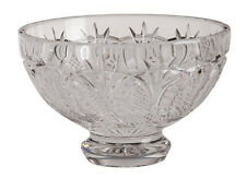"Waterford Crystal Ireland Prestige Collection Seahorse 6"" Footed Bowl Rare"